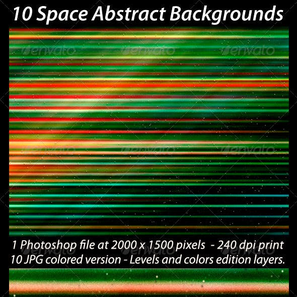 10 Space Abstract Backgrounds