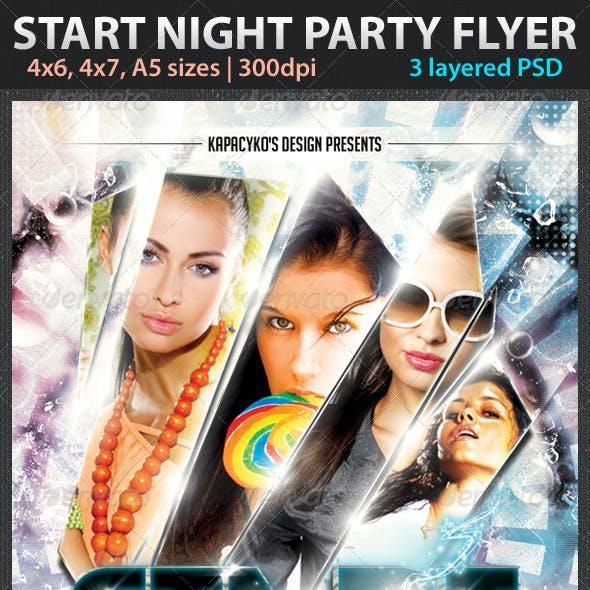 Start Night Party Flyer
