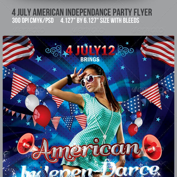 4th July American Independance Party Flyer
