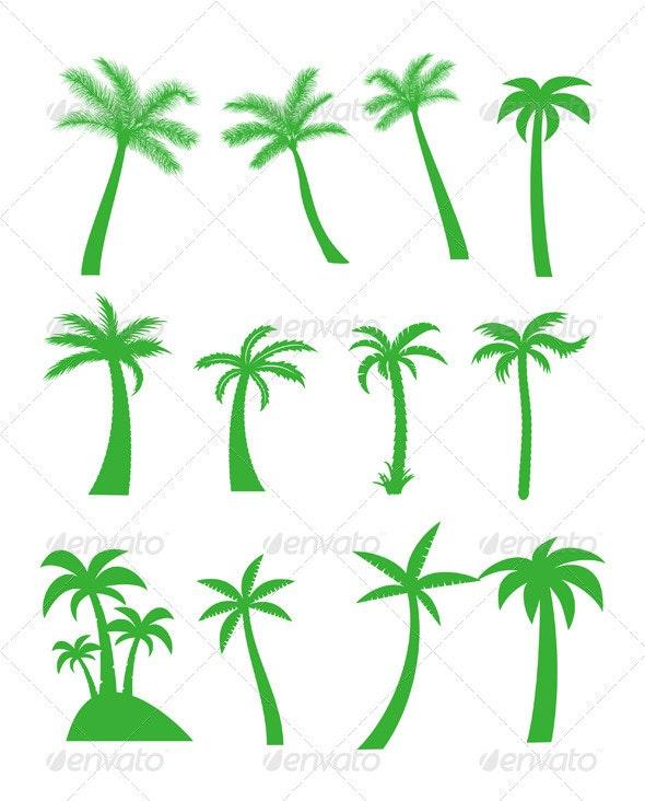 Palm trees - Decorative Symbols Decorative