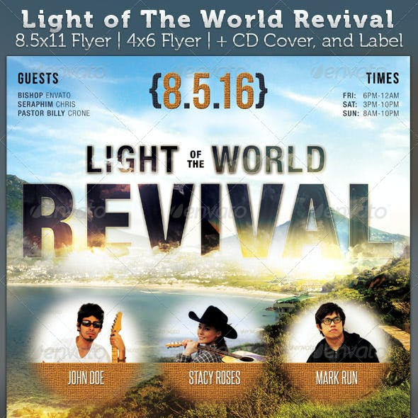 Light of The World Revival Flyer and CD Template