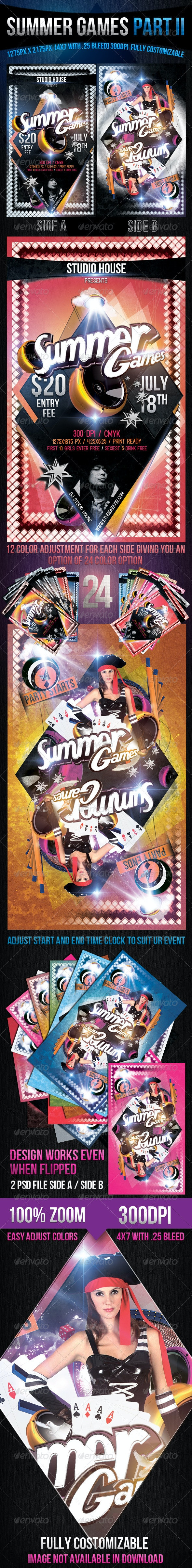 Summer Games Part 2 - Events Flyers