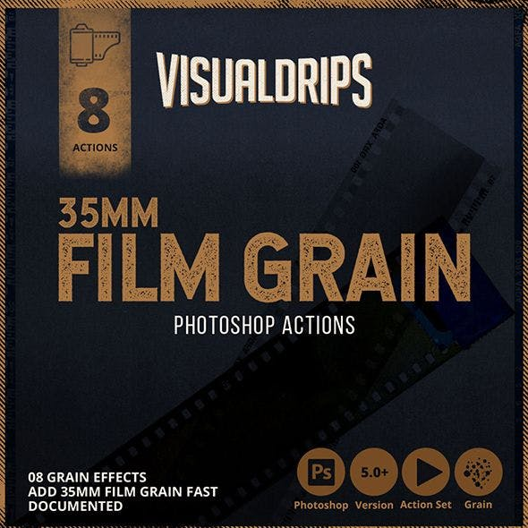 35mm Film Grain - Photoshop Action
