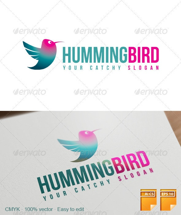 Hummingbird Logo - Animals Logo Templates