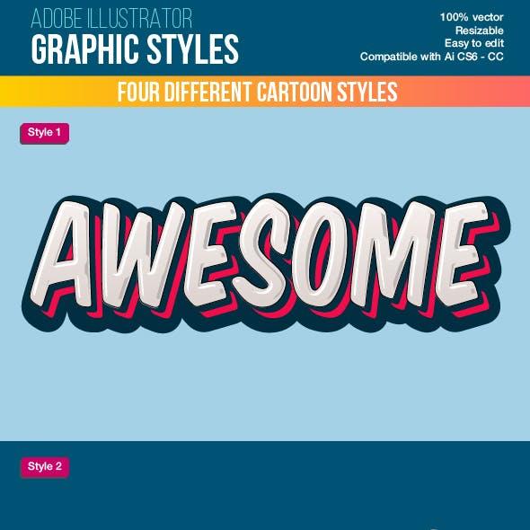 Colorful Cartoon Illustrator Graphic Styles