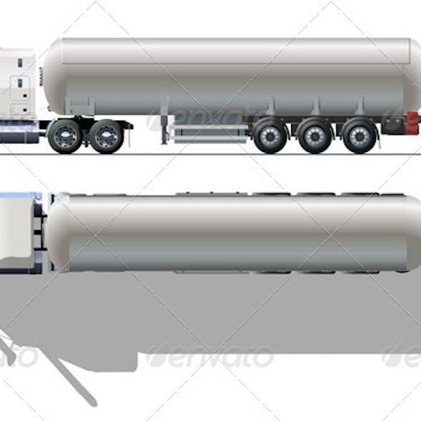 Tanker Semi-truck