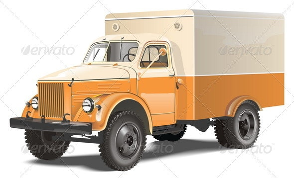 Retro Truck - Man-made Objects Objects