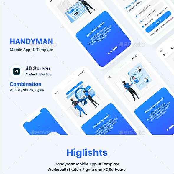 Handyman Mobile App UI Template
