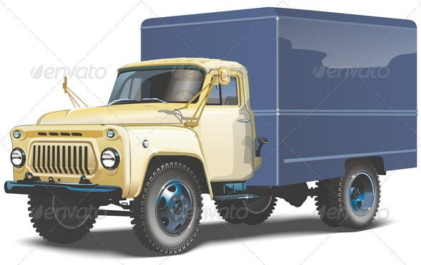 Commercial Truck - Man-made Objects Objects