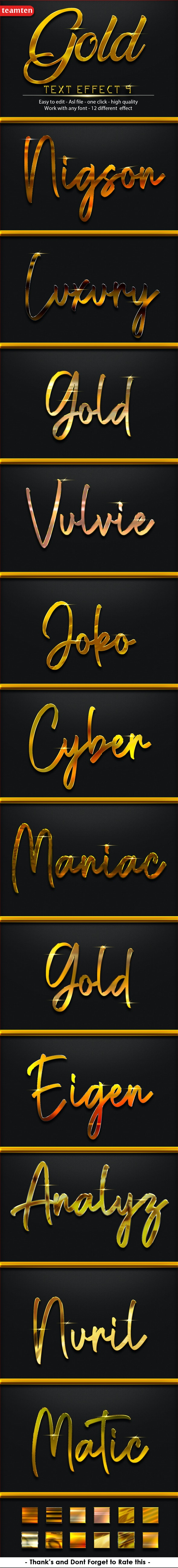 12 Gold Effect 9 - Text Effects Styles