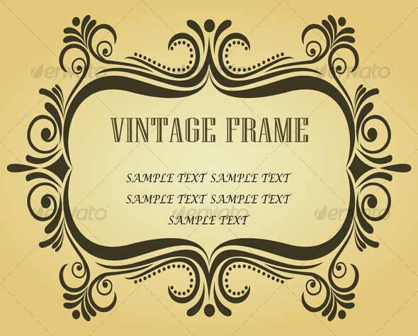 Vintage frame in victorian style - Decorative Vectors