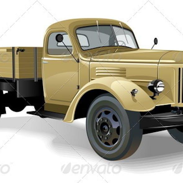 Retro Flatbed Lorry