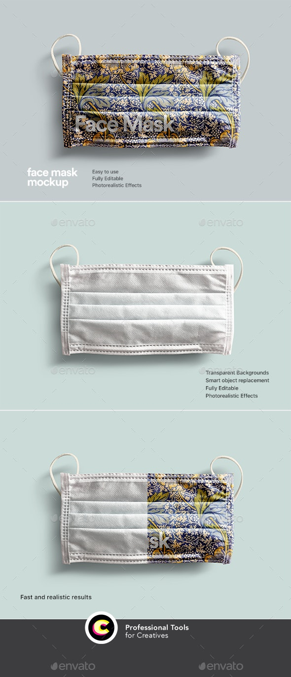 Face Mask Mockup - Miscellaneous Packaging