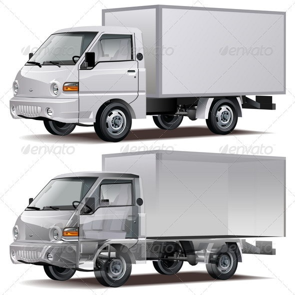 Cargo Truck Infographics Cutaway - Man-made Objects Objects