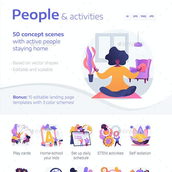 People Vector Concept Illustrations and Landing Pages