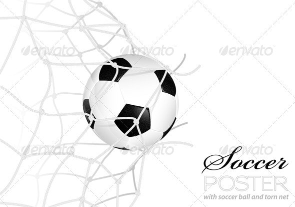 Soccer Ball in Net - Sports/Activity Conceptual
