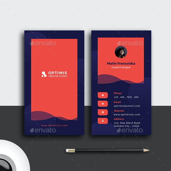 Blue Red Creative Business Card