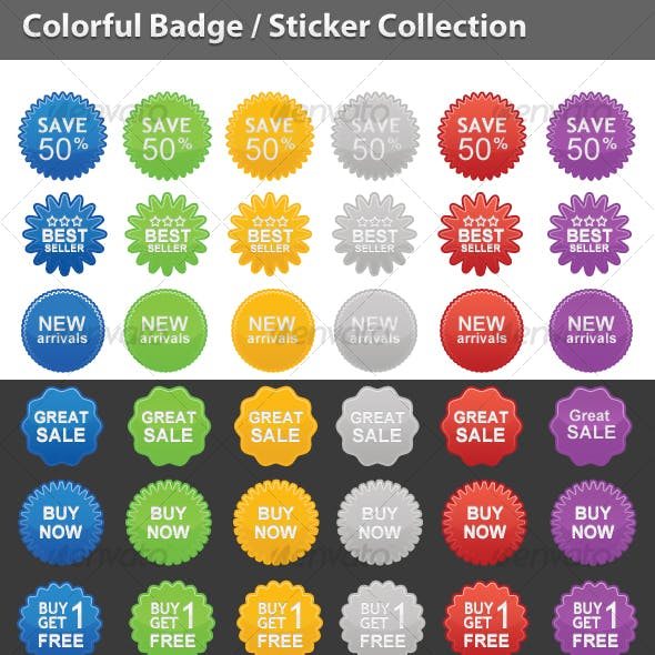 Colorful Badge / Sticker Collection