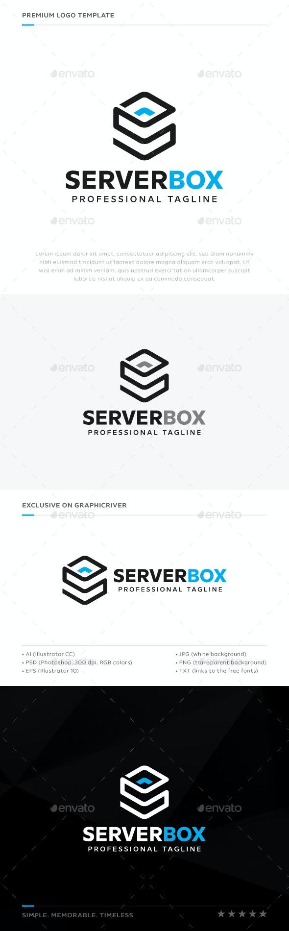 Server Box Logo - Abstract Logo Templates
