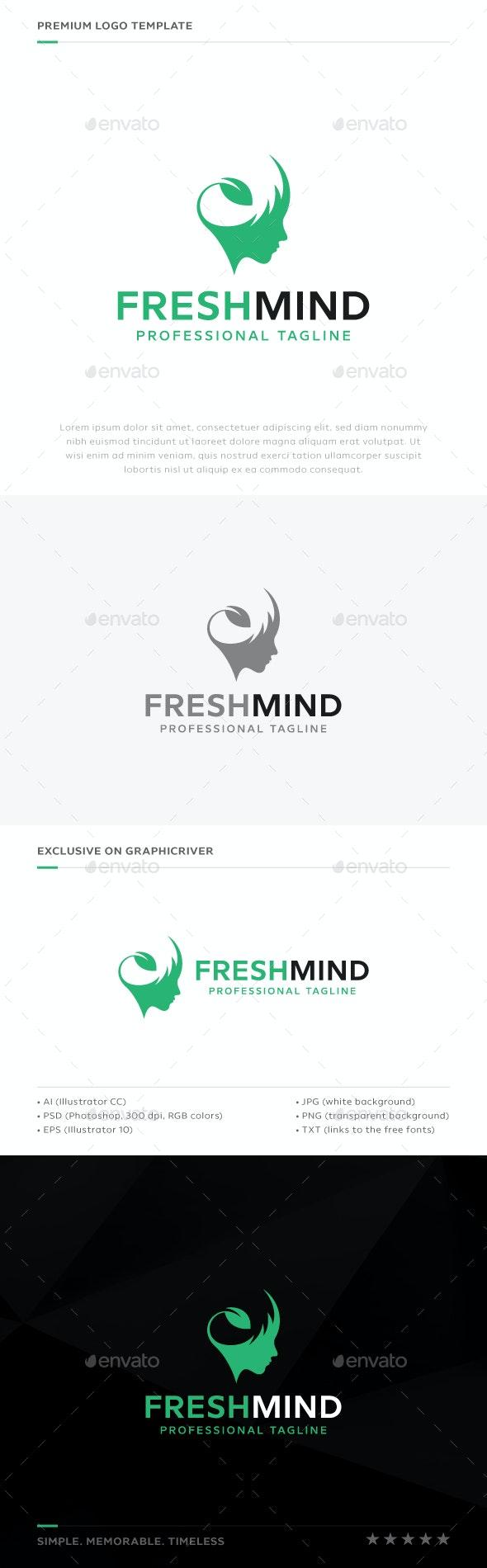 Fresh Mind Logo - Humans Logo Templates