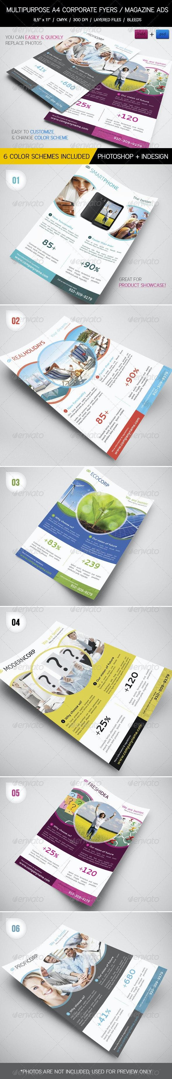 Multipurpose Business Flyers / Magazine Ads - Corporate Flyers