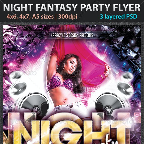 Night Fantasy Party Flyer