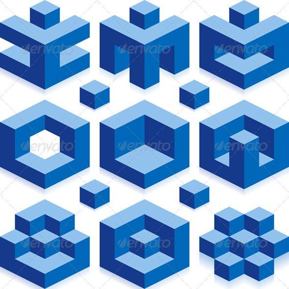 Vector Cube Elements