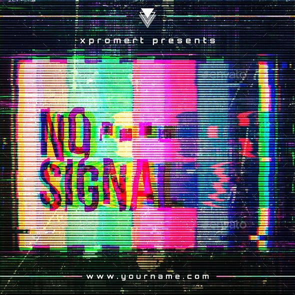 No Signal Music Album Cover Template