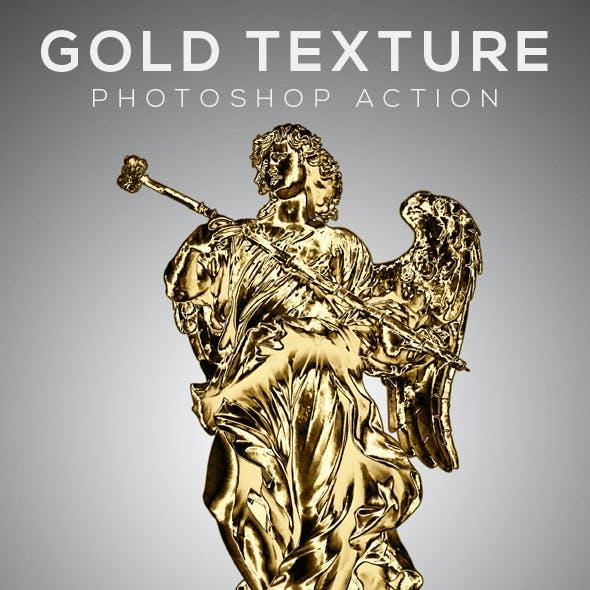 Gold Texture Photoshop Action