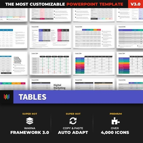 Financial Tables PowerPoint Template