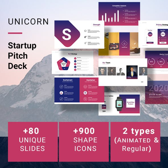 UNICORN Startup Pitch Deck Template (KEYNOTE)
