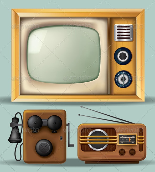 Vintage Electronics - Man-made Objects Objects