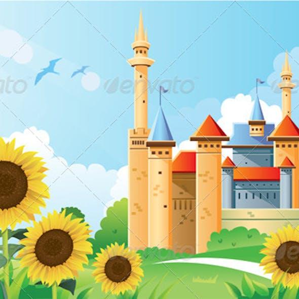 Summer Castle Background