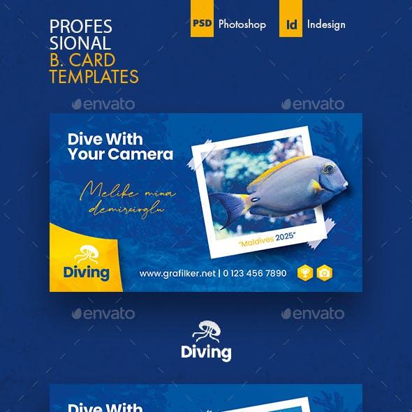 Ocean Diving Business Card Templates