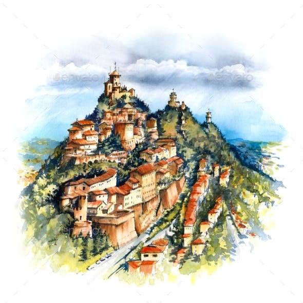 Three Fortresses in San Marino