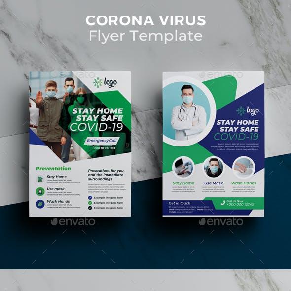 Corona Virus Flyer Template Pack