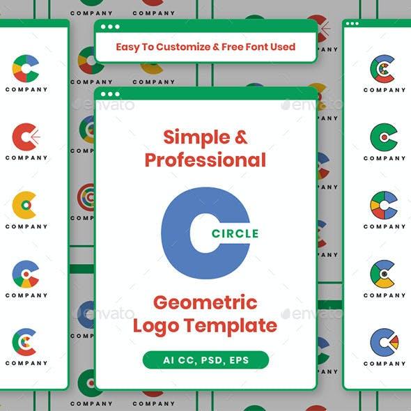 Simple & Professional Circle Geometric Logo