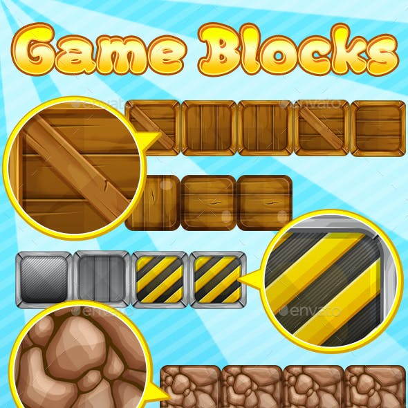 14 Different Game Platform Blocks