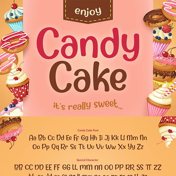 Candy Cake ~ Sweet Font