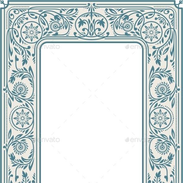 Retro Floral Border or Frame