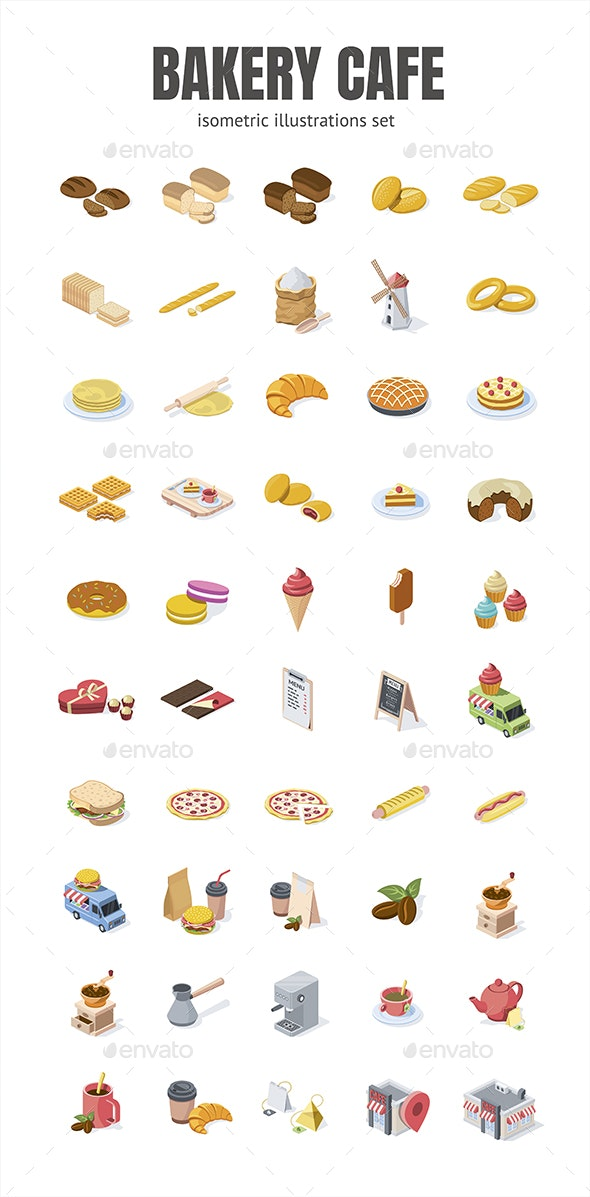 Bakery cafe - Food Objects