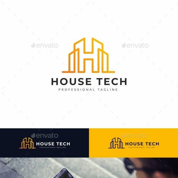 House Tech H Letter Logo