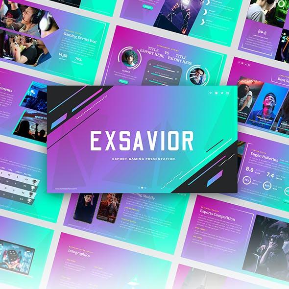 Exsavior- GamingGoogleslide Template