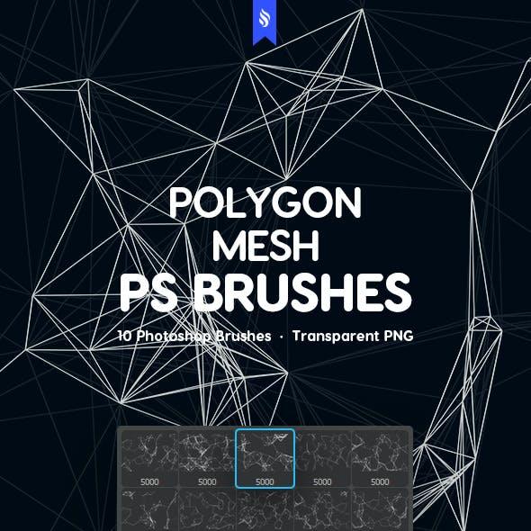 Polygon Mesh Photoshop Brushes