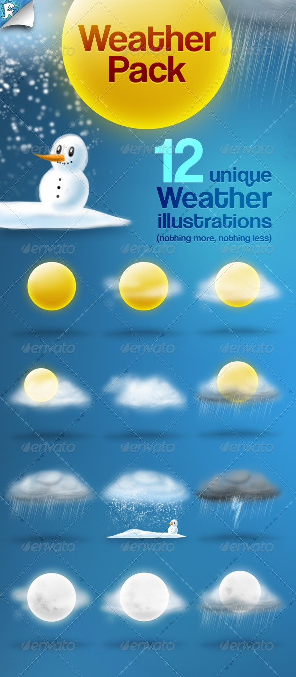 Weather Pack - Sunny Icons - Web Icons