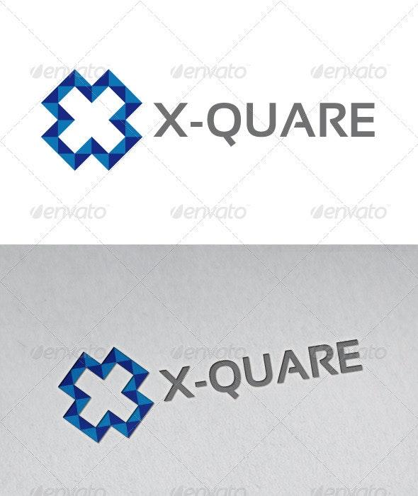 X - Quare Logo - Letters Logo Templates