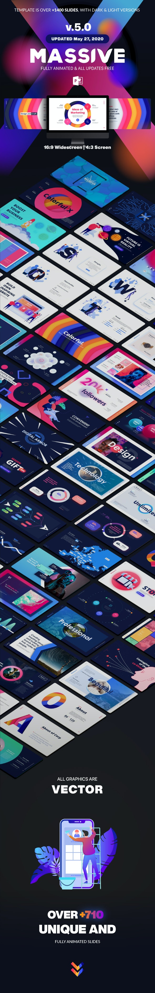 Massive X Presentation Template v.5.0 Fully Animated - Business PowerPoint Templates