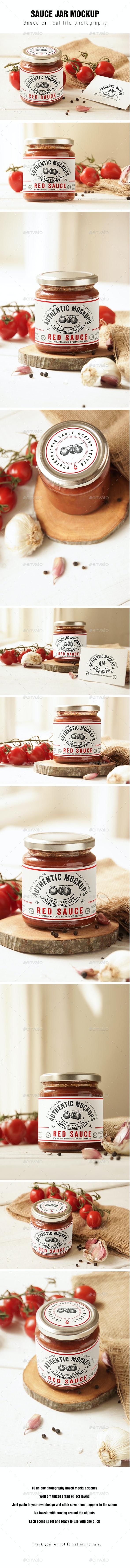 Sauce Jar Label Mockup - Product Mock-Ups Graphics