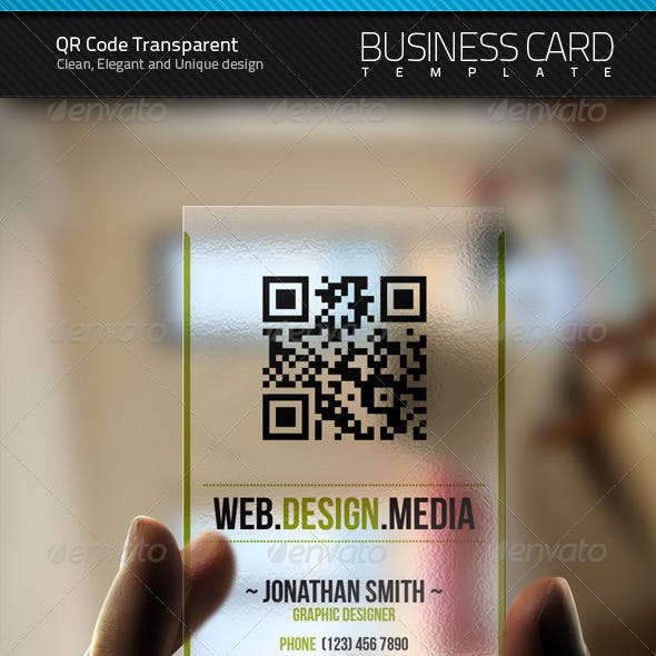 QR Transparent Business Card