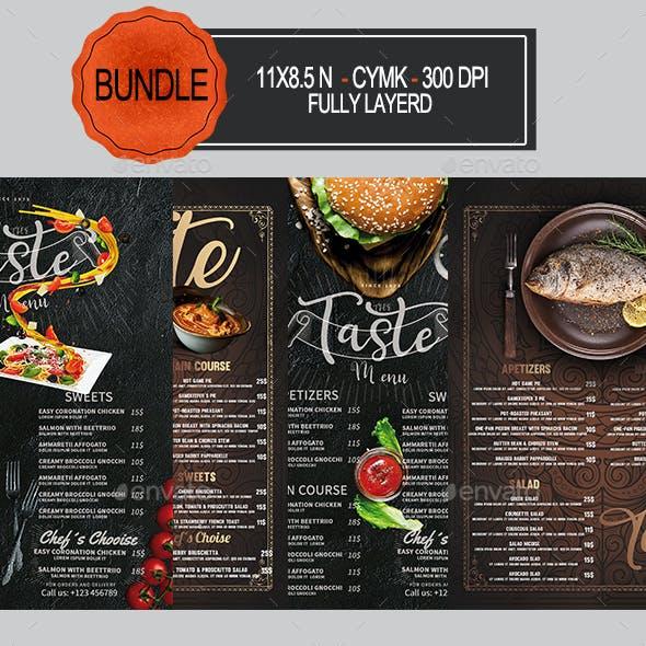 Restaurant Menu Bundle